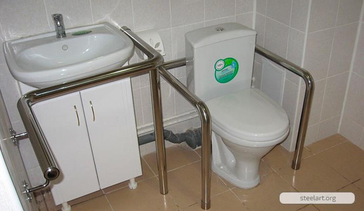 Поручень для туалета и раковины для инвалидов