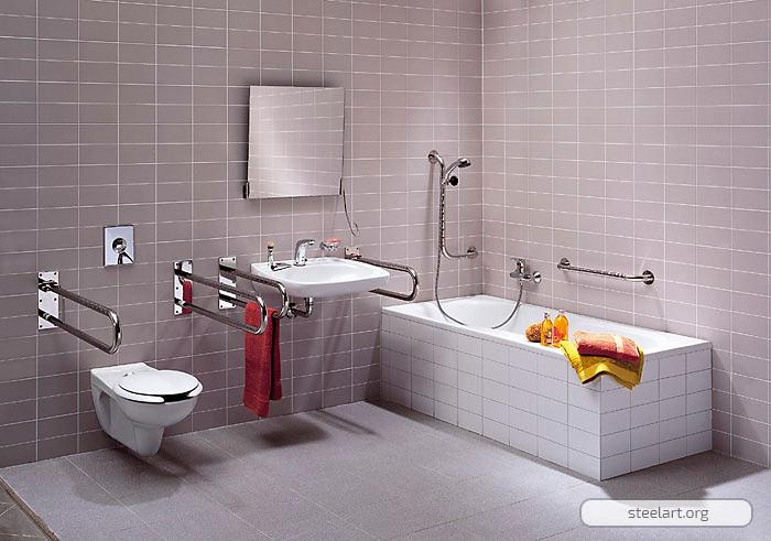 Поручни для ванны: ванной, туалета, раковины