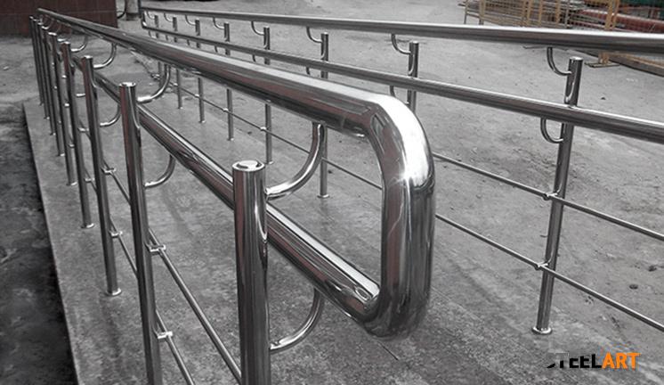 Ограждения пандуса из нержавеющей стали