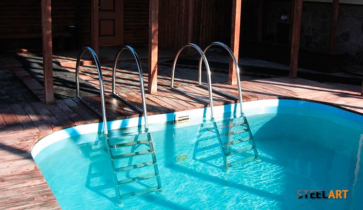 Две лестницы в бассейн