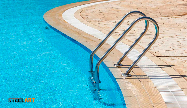Поручень в бассейн. Нержавейка
