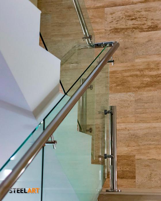 Стеклянные перила для лестницы из закалённого стекла