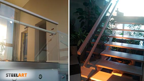 ограждение из стекла триплекс в Москве в частном доме