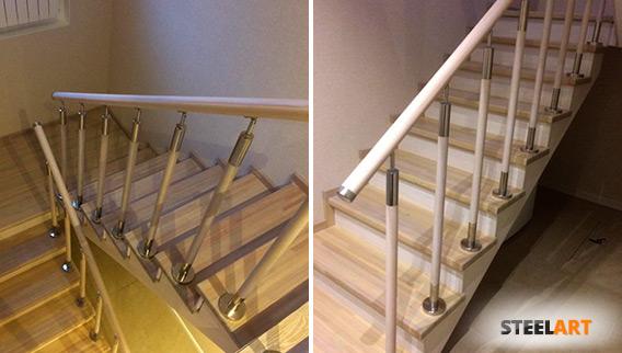 Комбинированные перила на лестнице